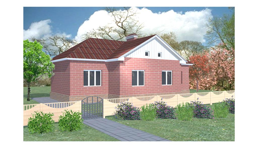 Проект небольшого одноэтажного дома a